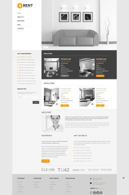Адаптивный WordPress шаблон №47860 на тему агентство недвижимости