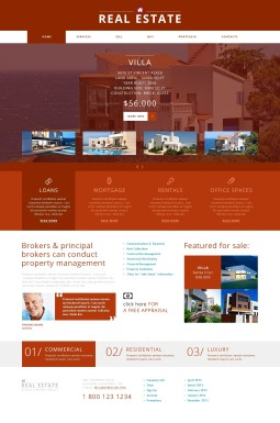 Адаптивный Joomla шаблон №47913 на тему агентство недвижимости