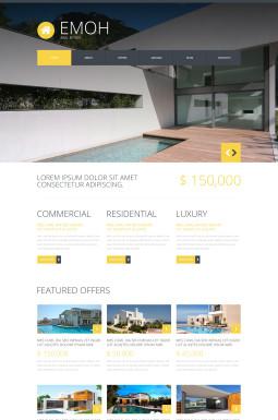 Адаптивный Joomla шаблон №48259 на тему агентство недвижимости