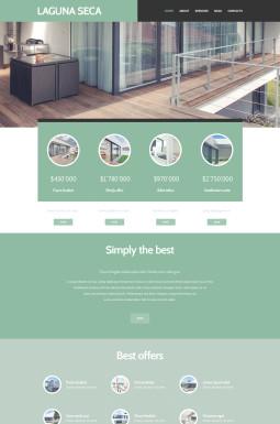 Адаптивный WordPress шаблон №48423 на тему агентство недвижимости