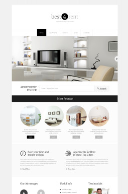 Адаптивный HTML шаблон №48537 на тему агентство недвижимости