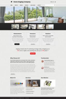 Адаптивный HTML шаблон №48621 на тему подготовка недвижимости к продаже