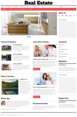 Адаптивный WordPress шаблон №48783 на тему агентство недвижимости