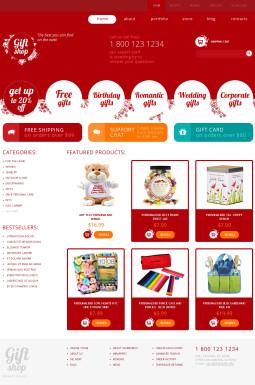 Адаптивный WooCommerce шаблон №49413 на тему магазин подарков