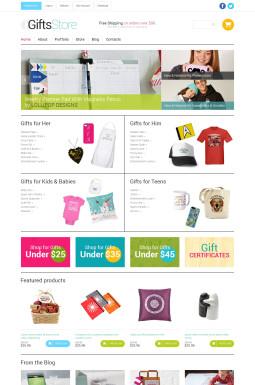 Адаптивный WooCommerce шаблон №49593 на тему магазин подарков