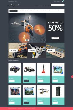 VirtueMart шаблон №50696 на тему детские игрушки