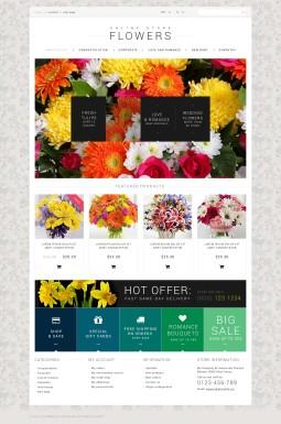 HTML шаблон №50971 на тему цветочный магазин