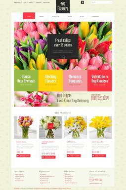 Адаптивный WooCommerce шаблон №51188 на тему цветочный магазин