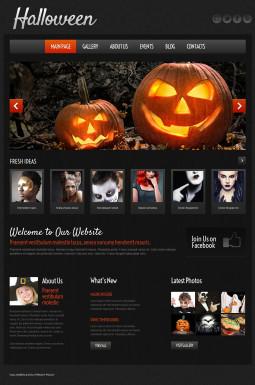 Адаптивный WordPress шаблон №51972 на тему хеллоуин