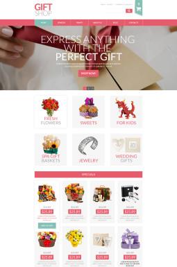 VirtueMart шаблон №52823 на тему магазин подарков