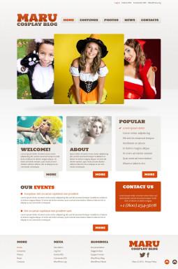 Адаптивный WordPress шаблон №52827 на тему хеллоуин