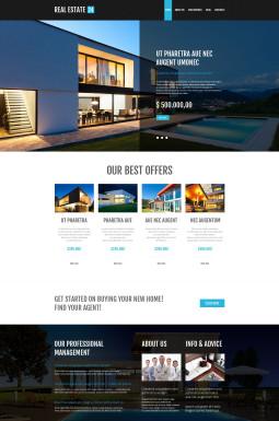 Адаптивный WordPress шаблон №53001 на тему агентство недвижимости