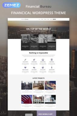 WordPress шаблон №53444 на тему финансовые консультации
