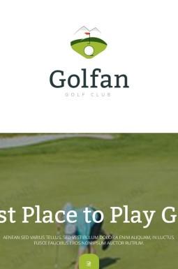 Адаптивный Шаблон посадочной страницы №55564 на тему гольф