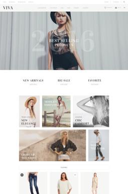 Адаптивный OpenCart шаблон №57564 на тему магазин одежды