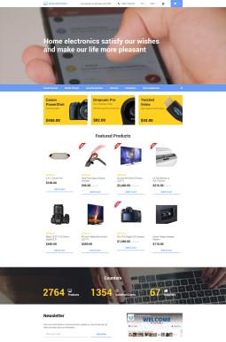 Адаптивный OpenCart шаблон №58140 на тему магазин электроники