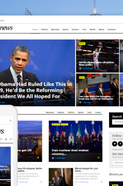Адаптивный WordPress шаблон №58404 на тему журнал
