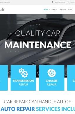 Адаптивный Joomla шаблон №59094 на тему ремонт авто