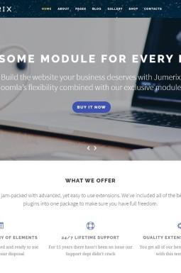 Адаптивный Joomla шаблон №60060 на тему бизнес и услуги