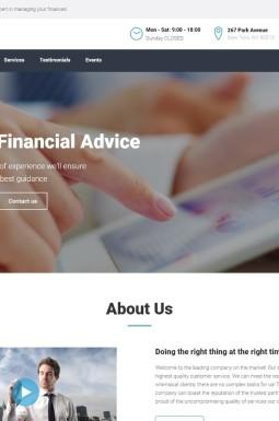 Адаптивный Шаблон посадочной страницы №66832 на тему финансовые консультации
