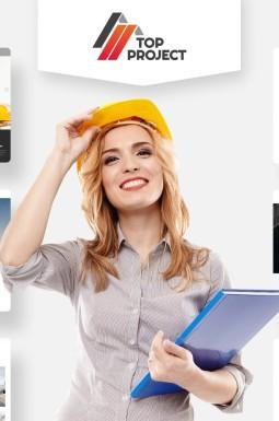 Адаптивный HTML шаблон №74319 на тему строительные компании