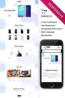 Адаптивный OpenCart шаблон №82208 на тему магазин мобильной связи