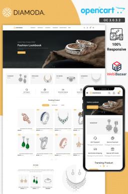 Адаптивный OpenCart шаблон №95559 на тему веб-дизайн