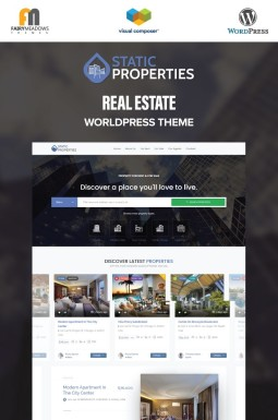Адаптивный WordPress шаблон №99338 на тему агентство недвижимости