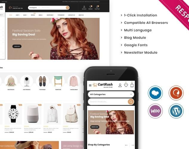 Адаптивный WooCommerce шаблон №137111 на тему продуктовый магазин