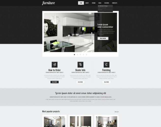 HTML шаблон №40036 на тему мебель