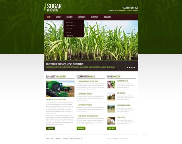 HTML шаблон №40104 на тему сельское хозяйство