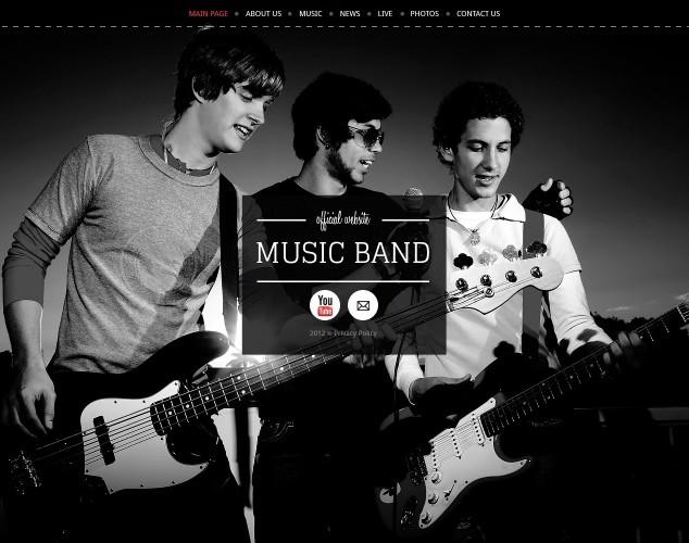 HTML шаблон №40269 на тему музыкальная группа