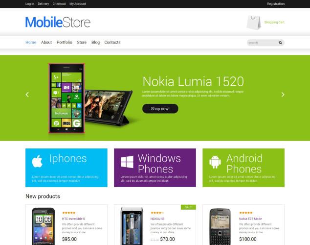 Адаптивный WooCommerce шаблон №49164 на тему магазин мобильной связи