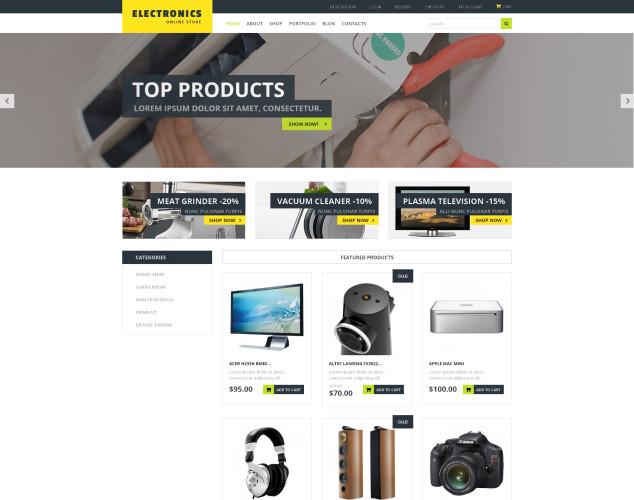 Адаптивный WooCommerce шаблон №51107 на тему магазин электроники