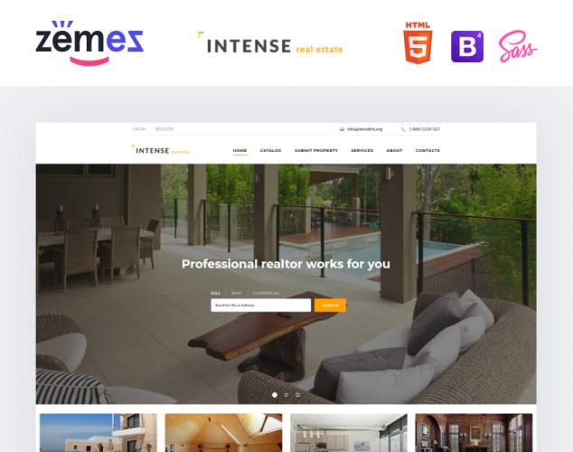 Адаптивный HTML шаблон №58887 на тему недвижимость