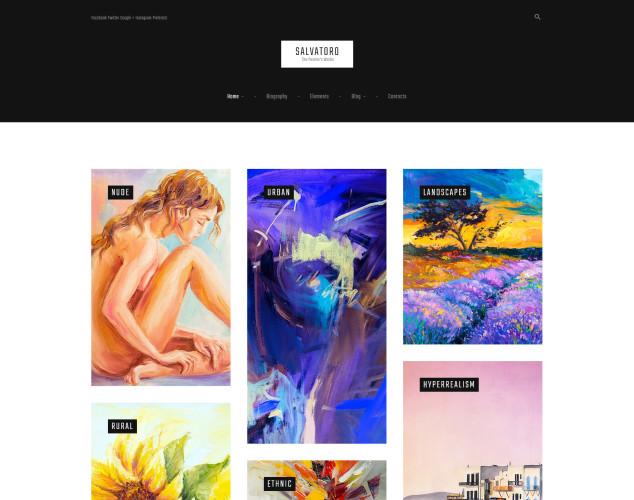 Адаптивный WordPress шаблон №61162 на тему художественное портфолио