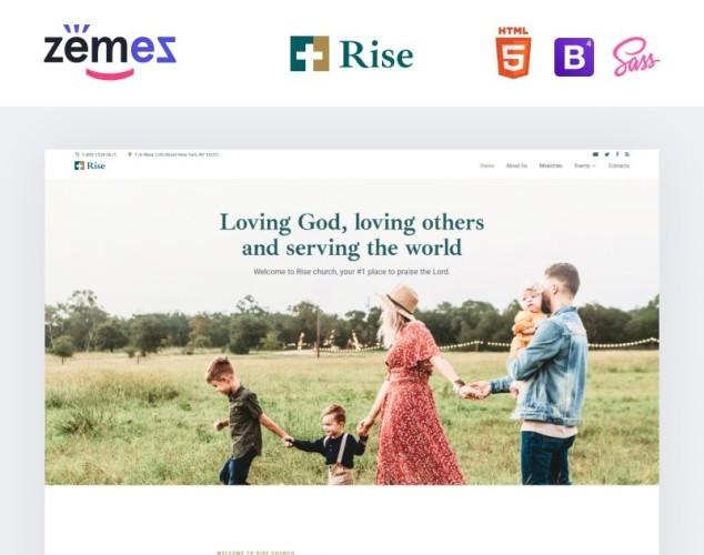 Адаптивный HTML шаблон №99502 на тему католическая церковь